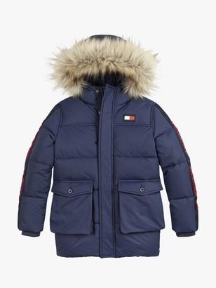 Tommy Hilfiger Boys' Arctic Tape Parka Coat, Twilight Navy