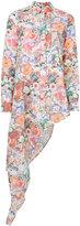 MM6 MAISON MARGIELA floral print draped shirt