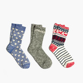 Madewell Three-Pack Cheers Mix Trouser Socks