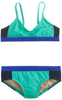 J.Crew Girls' bikini set in triple colorblock