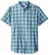 Izod Men's Advantage Performance Easycare Plaid Short Sleeve Shirt