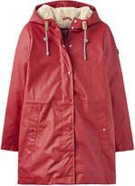 Joules Women's Rain Coats RED - Red Faux Fur-Lined Rainaway Rain Coat - Women