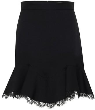 Alexander McQueen Wool-blend miniskirt