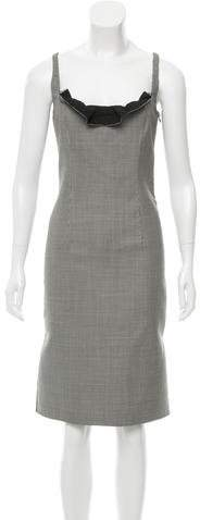Valentino Wool Houndstooth Dress w/ Tags