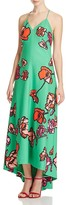 Kay Unger Floral Print Maxi Dress