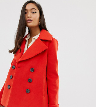 Miss Selfridge double breasted coat in red