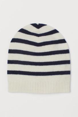 H&M Merino Wool Hat - White