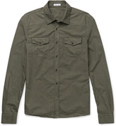 Tomas Maier - Riviera Slim-fit Cotton-poplin Shirt
