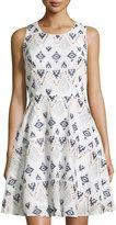 Neiman Marcus Embroidered Tank Dress, Multi