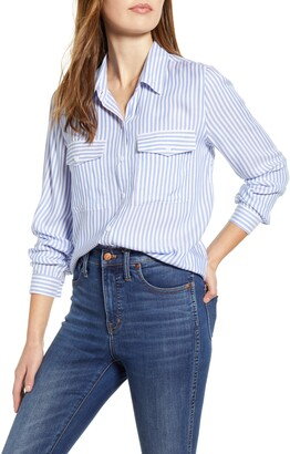 BeachLunchLounge Frankie Stripe Button-Up Blouse