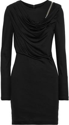 Alexander Wang Zip-detailed Draped Wool Mini Dress