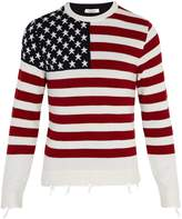 Valentino Flag cashmere sweater