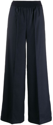 Semi-Couture Wide Leg Tailored Trousers