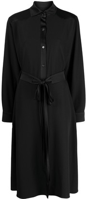 Raquette Tie-Waist Shirt Dress