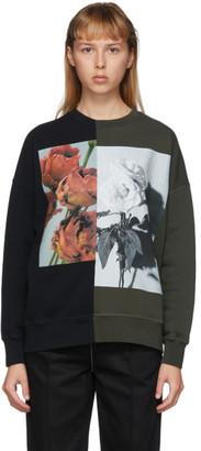 Alexander McQueen Black and Khaki Hybrid Floral Sweatshirt
