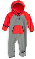 The North Face Infant Boy's 'Glacier' Hooded Romper