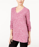 Style&Co. Style & Co Petite Space-Dyed Sweater, Only at Macy's