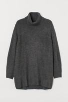 H&M H&M+ Long Turtleneck Sweater - Gray
