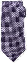 Armani Collezioni Geometric Silk Tie, Purple