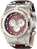 Invicta Men's 14612 Bolt Analog Display Swiss Quartz Brown Watch