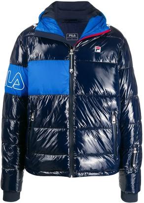 Fila contrast logo padded jacket
