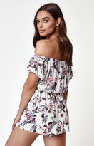 KENDALL + KYLIE Kendall & Kylie Floral Off-The-Shoulder Romper