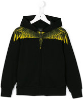 Marcelo Burlon County Of Milan Kids - wing print hoodie - kids - Cotton/Polyester - 6 yrs