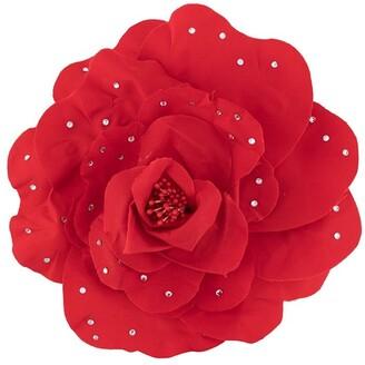 Philosophy di Lorenzo Serafini Rhinestone Embellished Rose Brooch