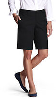 Classic Women's Plain Front Blend Chino Shorts-Black