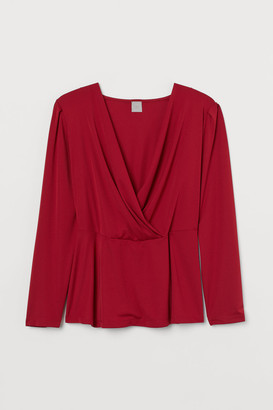 H&M H&M+ Wrapover Top - Red