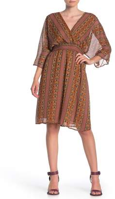 Dress Forum Boho 3/4 Sleeve Smocked Dress