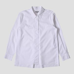Margaret Howell White Fly Front Shirt - 8 (UK) | white - White/White