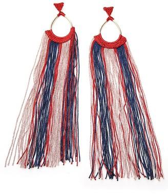 Missoni Striped Tassel Detail Earrings
