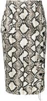 Altuzarra snake-effect pencil skirt - women - Cotton/Polyester/Spandex/Elastane/Acetate - 40