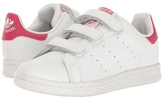 adidas Kids Stan Smith J/CMF C/CMF INF (Little Kid) (White/White/Bold Pink) Girls Shoes