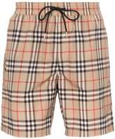 Burberry Guildes check swim shorts