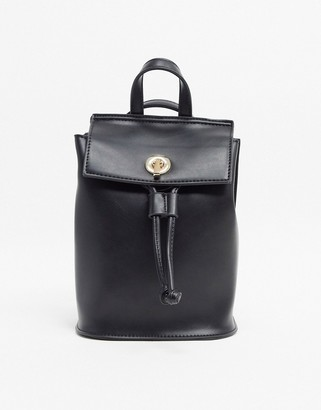 French Connection Faux Leather Mini Backpack