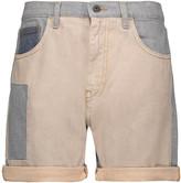 McQ by Alexander McQueen Patchwork marled denim shorts