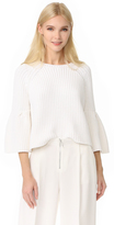 Elizabeth and James Carolina Cropped Flutter Sleeve Sweater