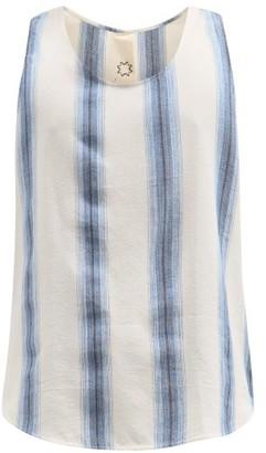 Marrakshi Life - Striped Cotton-blend Tank Top - Blue Multi