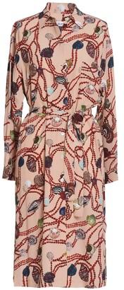 AILANTO Pearls & Shells Nude Shirt Dress