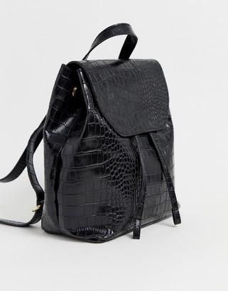 Asos Design DESIGN croc backpack-Black
