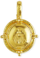 Elizabeth Locke 19k Gold Oval Honey Bee Pendant