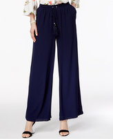 NY Collection Drawstring-Waist Palazzo Pants