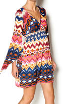 W Aztec Print Dress