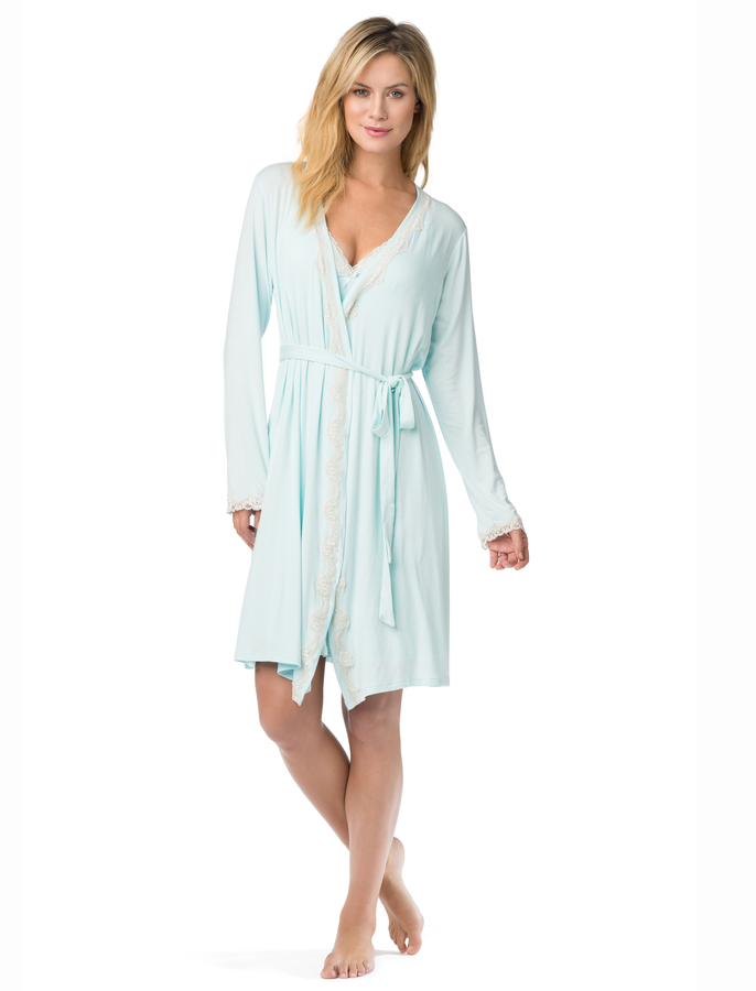 Motherhood Jessica Simpson Empire Waist Nursing Nightgown And Robe
