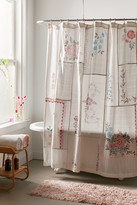 Urban Outfitters Coralie Patchwork Gauze Shower Curtain
