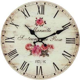 Argos Home Floral Glass Wall Clock