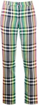 Talbot Runhof High-Waisted Check Trousers
