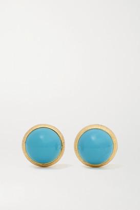 OLE LYNGGAARD COPENHAGEN Lotus 18-karat Gold Turquoise Earrings - one size
